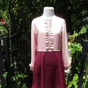 Ted Baker Steyla Ruffled Dress US sz 6/UK 2 xD97